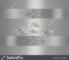 templates 3d ilrated elegant design for formal 25th wedding anniversary card background template