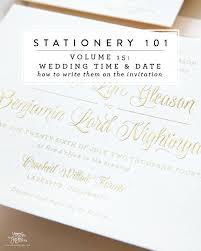 stationery 101, volume 15 writing your wedding date and time Time In Wedding Invitation stationery 101, volume 15 writing your wedding date and time time lapse wedding invitation