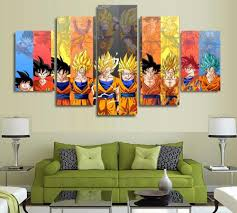 5 panels wall art dragon ball z goku saiyan paintings art canvas paintings poster unframed 7546 affiliate on 5 panel giant dragon wall art canvas with 5 panels wall art dragon ball z goku saiyan paintings art canvas