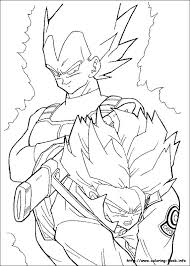 Dragon Ball Z Vegeta Coloring Pages Dragon Ball Z Coloring Pages