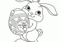 Large Easter Bunny Coloring Page With Coloring Pages Free Printable