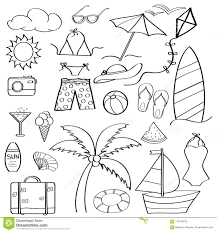 Scarabocchii La Raccolta Di Vacanza Estiva Degli Elementi Del