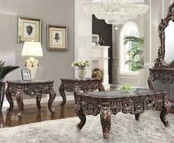 traditional coffee table set 3 pcs in