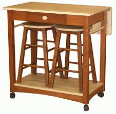 Kitchen Island Table On Wheels Mobile Kitchen Islands Snack Bar Breakfast Stools Wood