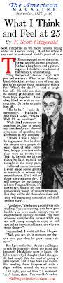 f scott fitzgerald nonfiction essay in american magazine f f scott fitzgerald at twenty five the american magazine 1922