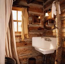Log Cabin Bathroom Decor Log Cabin Bathroom Eclectic Bathroom
