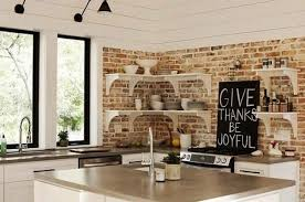 Small Picture 25 Modern Kitchens and Interior Brick Wall Design Ideas