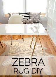 faux zebra rug diy brittanymakes