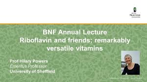 BNF Annual Lecture: Riboflavin and friends - Prof Hilary Powers on Vimeo