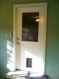 exterior door with window and dog door. a simple half lite smooth steel entry door system with our exclusive factory-installed doggie exterior window and dog l