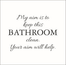 com my aim is to keep this bathroom clean vinyl decal medium black home kitchen