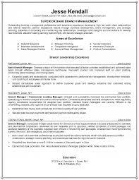 branch manager sample resume