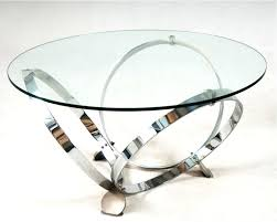modern round glass coffee table chrome ring legs black side granite adjustable tray triangle solid wood with silver marble and cube tables brass