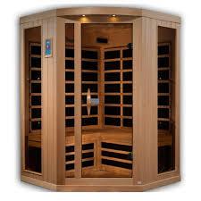 Golden Design 3 Person Sauna Kari 3 Person Corner Near Zero Emf Far Infrared Sauna With