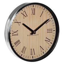 vitus natural and silver wall clock roman numerals 1