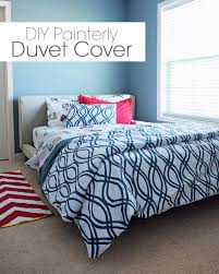diy duvet covers diy painterly duvet cover easy sewing projects and no sew ideas