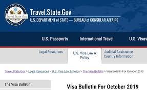 Visa Bulletin Priority Date Chart October 2019 Visa Bulletin Lawyer Linh