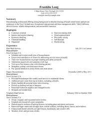 Housekeeping  amp  Cleaning Resume Sample   Resume Genius