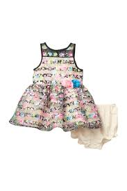 Pippa And Julie Size Chart Pastourelle By Pippa And Julie Floral Shadow Stripe Dress Baby Girls Hautelook