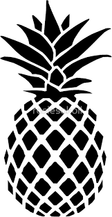 pineapple clipart black and white. pineapple by rosiesokoll clipart black and white u