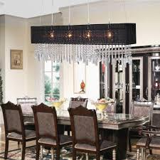 rectangular crystal chandelier dining room luxury useful contemporary crystal dining room chandeliers inspiration