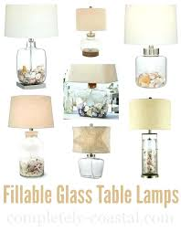 fillable glass lamp s with cork top table ideas base australia