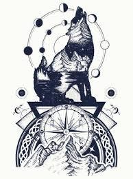 Tetování Vlk V Lese
