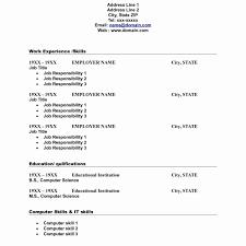 Nice Resume Blanks Forms Elaboration Documentation Template