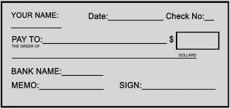 check template collection of blank cheques template a cheque check illustration