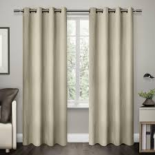 crete off white textured jacquard thermal grommet top window curtain