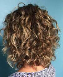 balayage curly haircut