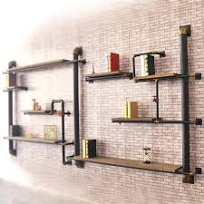 industrial shelf brackets loft country style wall shelf wood shelf bracket glove the old industrial pipes