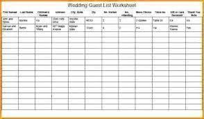 Printable Wedding Guest List Organizer Printable Wedding Guest List Template Print Out