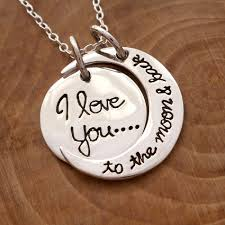 sterling silver i love you to the moon and back necklace swj103