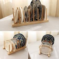 wooden dish plate storage holders folding racks drying shelf sku283219 b jpg sku283219 a jpg