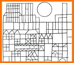 Paul Klee Coloring Sheets Shapes And Potatoes Paul Klee Colouring