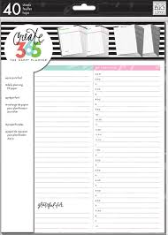 Day Planner Hourly Daily Sheets Big Me My Big Ideas