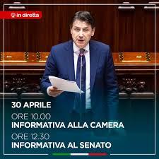 Giuseppe Conte - Domani mattina sarò prima alla Camera dei deputati e poi  al Senato della Repubblica per un'informativa urgente sulle iniziative del  Governo per la ripresa delle attività economiche
