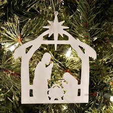 Free Nativity Ornament with purchase Holy Night Printed Outdoor Set