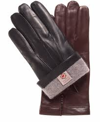 men s italian cashmere lined leather gloves with longer fingers