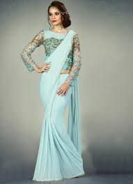 Cutdana Work Saree Designs Absorbing Fancy Fabric Cutdana Work Designer Saree