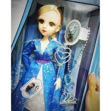 Búp bê nữ hoàng băng giá Frozen Elsa mắt ngọc size đại 50cm kèm vương miện,  dây chuyền và quyền trượng - Búp bê Thương hiệu OEM