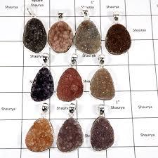 wbg954 10 pcs 100 grams whole lot natural druzy pendants 925 sterling silver wbg954