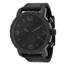 """fossil watches for men official stockist watchoâ""""¢ fossil mens nate black chronograph watch jr1354"""