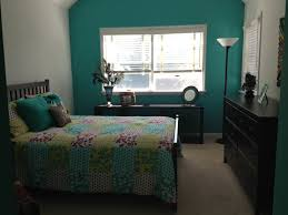 Teal Color Bedroom White Branch And Quotes Sticker Wall Decal On Teal Bedroom Wall