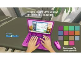 StrangerVille-GP07-Portable Laptop-Standard and Customised-14 Colours Each  Set by wendy35pearly - The Sims 4 Download - SimsDomination