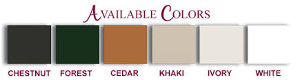 vinyl fence colors. Brown Vinyl Fence Colors