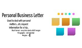 Personal Business Letter - April.onthemarch.co