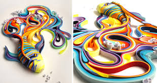 Art Using Colored Paper