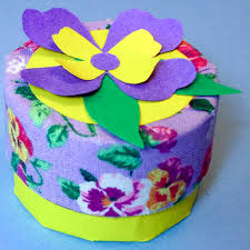 Decorating Boxes With Paper Make a Trinket Box from Recycled Tubes Friday Fun Aunt Annie's 40